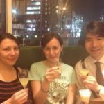 Yusuke, Magali and me at Bar Italia, Shinjuku