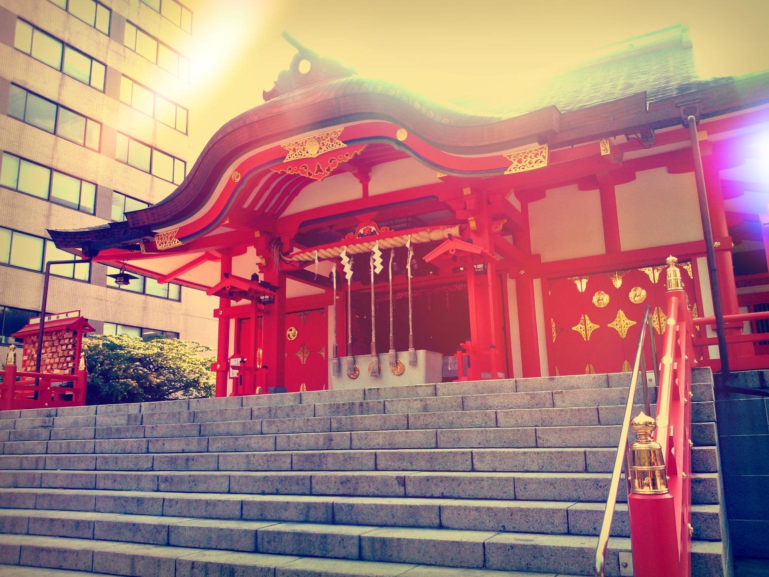 Shinto Shrine in Shinjuku, Tokyo