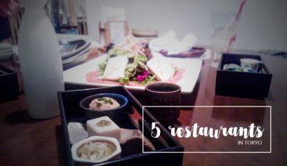 5 restaurants in Tokyo