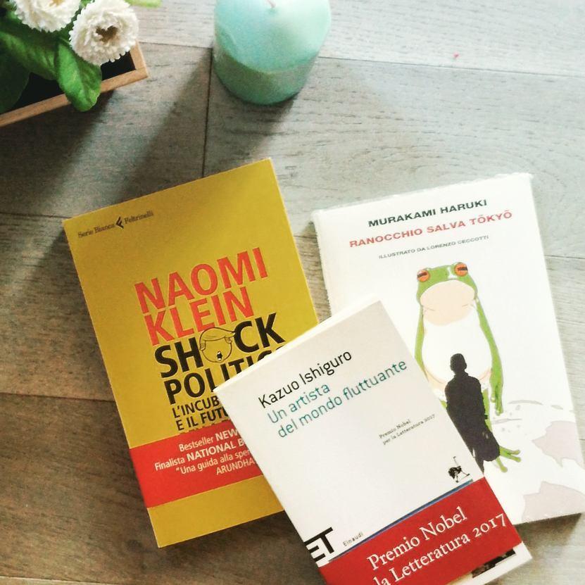Naomi Klein, Kazuo Ishiguro, Murakami Haruki