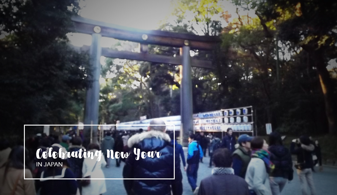 Celebrating New year in Japan